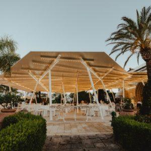 copertura personalizzata acciaio luci resort ristorante